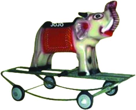 Elephant Small Rider & Rocker with Iron Frame