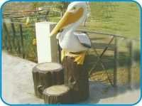 Wood Picker Fiber Bird Figure