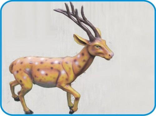 Running Barasingha Fiber Animal Figure
