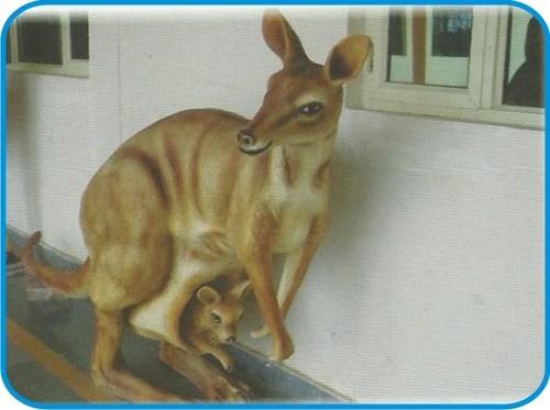 Kangaroo Fiber Animal Figure