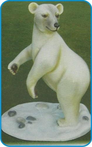Standing Polo Bear Fiber Animal Figure