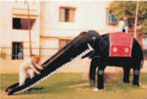 Elephant Fiber Animal Slide