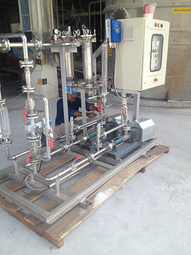 Chemical Feed Dual Pump Skid System