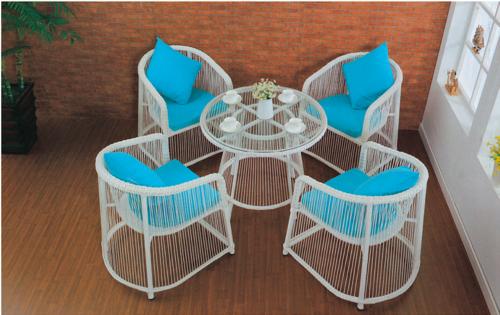 String Style Wicker Outdoor Coffee Set