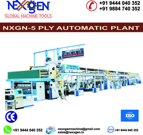 5 Ply Automatic Paper Corrugated Board Plant