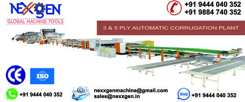 3 & 5 PLY FULLY AUTOMATIC CORRUGATION PLANT