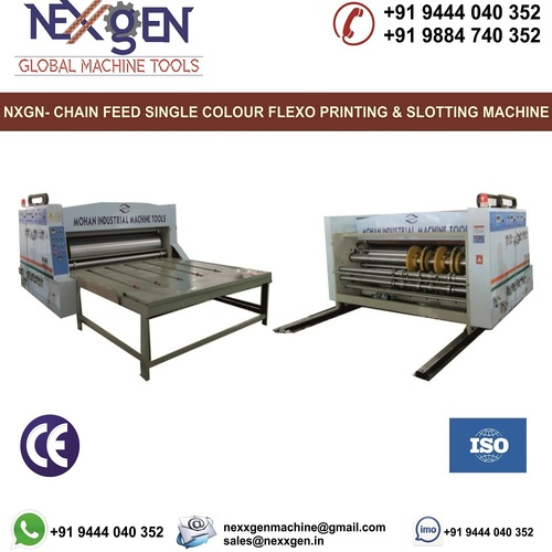Chain Feed Single Colour Flexo Printer and Slotter Machine