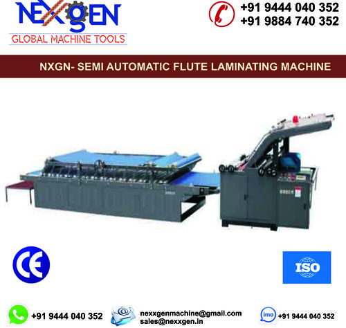 Semi Automatic Flute Laminating Machine