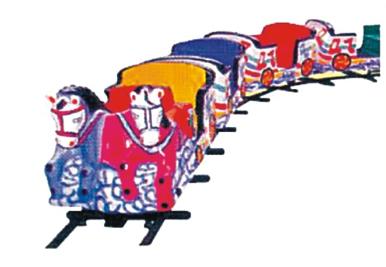 "Horse Train- 12 Children, Boggy-3 Nos., Track Dia 20"""