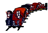 Horse Train- 12 Children, Boggy-3 Nos., Track Dia 20""