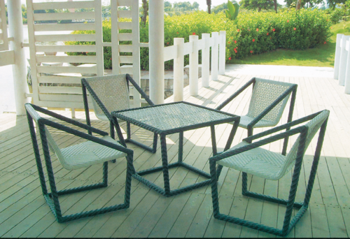 Zee Style Outdoor Wicker Coffee Set