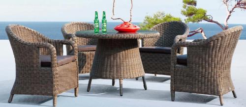 Rattan Style Outdoor Wicker Coffee Set