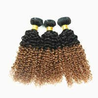 kinki curly two tone human hair extensions