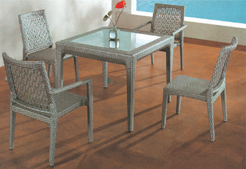 Chair Style Outdoor Wicker Coffee Set