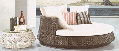 Open Style 2 Wicker Day Bed