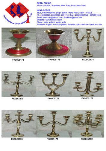 Aluminium Brass Candle Stand