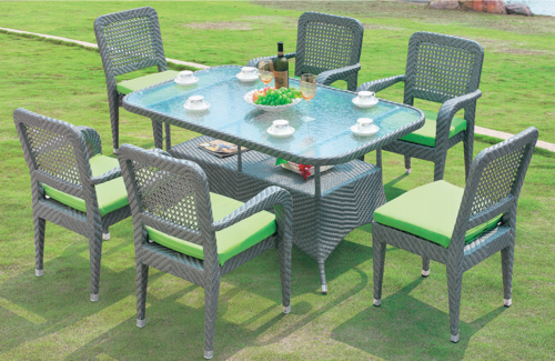 Normal Style Outdoor Wicker Dining Table Set