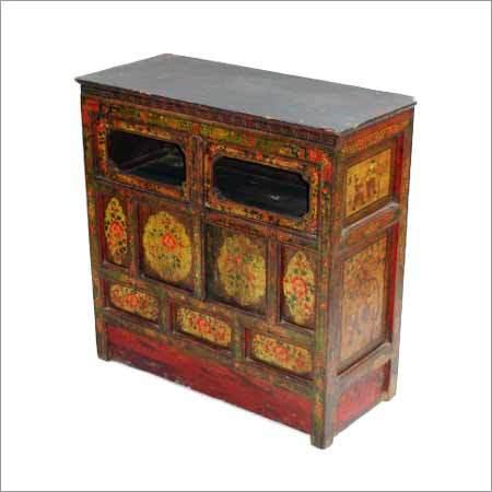 Wooden Tibetan Sideboard