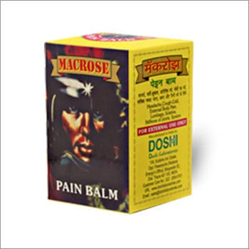 Macrose Pain Balm Age Group: For Adults