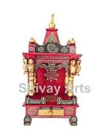 Wooden Handcrafted Hans Swan Temple Mandir Pooja Ghar Mandapam For Worship