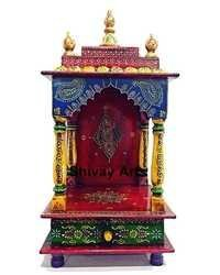 Wooden Temple Mandir Pooja Ghar Madapam Mandap For Worship