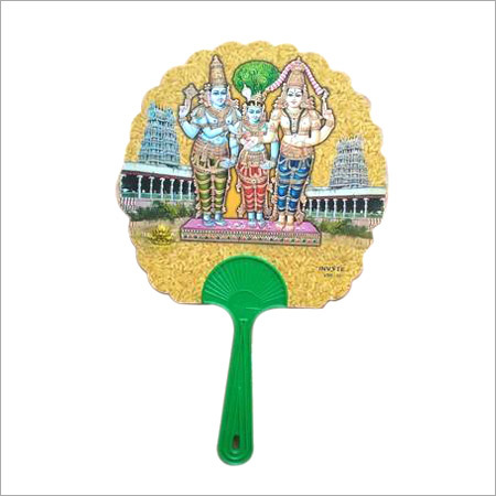 Printed Plastic Hand Fan