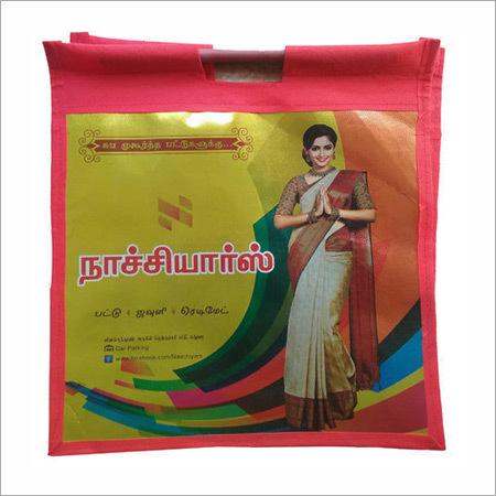 Metallised Non Woven Wooden Handle Bag