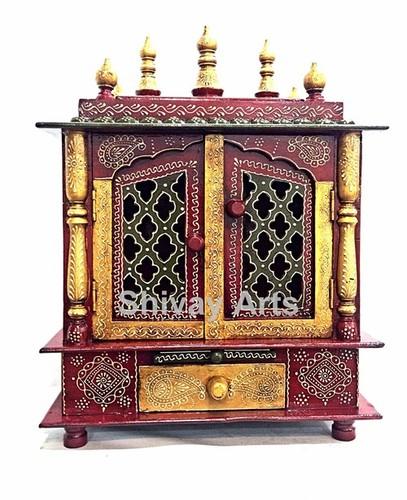 Wooden Temple Mandir Pooja Ghar Mandapam Mandap For Worship