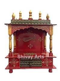 Wooden Temple Mandir Pooja Ghar Mandapam Mandap For Worship