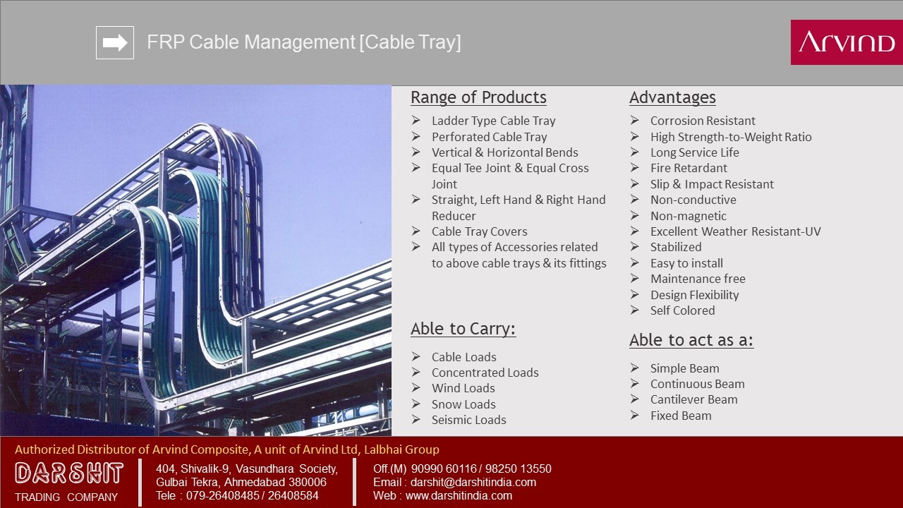 FRP Ladder & Channel Type Cable Tray