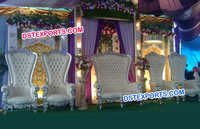 Wedding Stage Silver High Back Furnitures