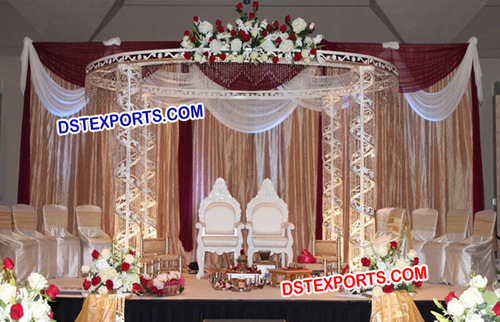 Wedding Fully Metal Crystal Mandap