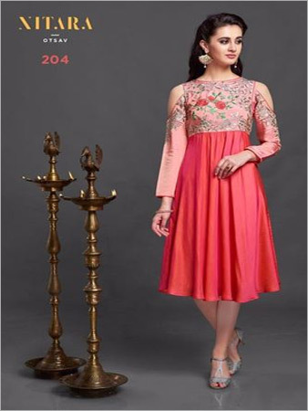 Shop Embroidered Kurti Online