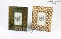 Wooden Distress Photo Frame