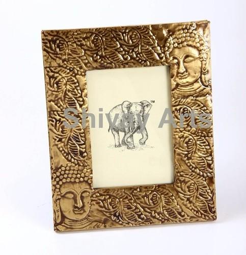 Wooden & Brass Buddha Photo Frame