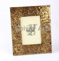 Wooden & Brass Buddha Photo Frame