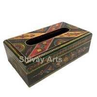 Wooden Handpainted Fine Emboss Tissue Box/Holder
