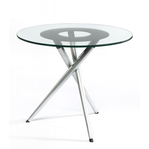 MS silver Glass Table