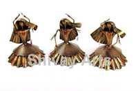 Metal Rajasthani Kalbeliya Dance Showpiece Figurines Statues Home Decor - Set Of 3