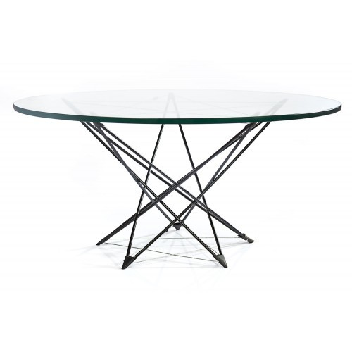 Metal glass Table
