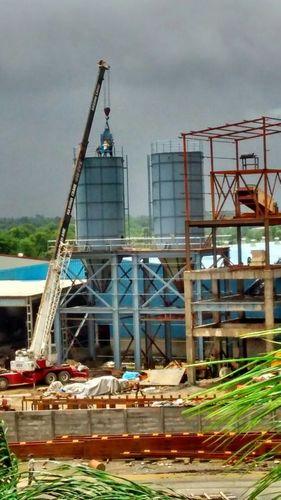 Ash storages silos