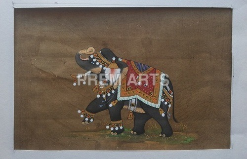 Elephant Paper Painting