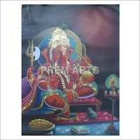 Oil Painting Of Lord Ganesh