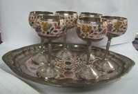 Antique Brass Wine Sets
