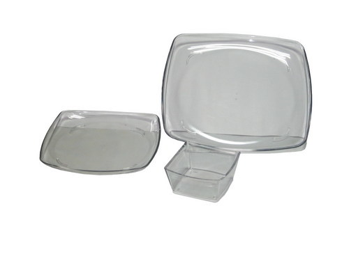 Square Full Plate , Qtr Plate And Bowl