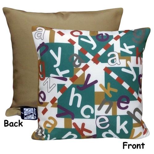 Printed Alphabet Cushion Cover
