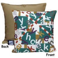 Printed Alphabet Cushion Cover