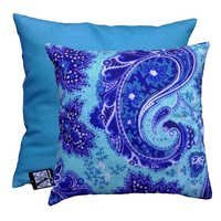 Blue Paisley Cushion Covers