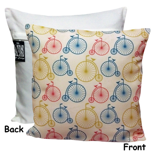 Vintage Cycle Printed Cushion Cover