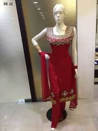 Straight Cut Embroidered Salwar Suits